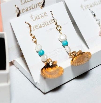 Pearl and Turquoise Luxe Shell Earrings