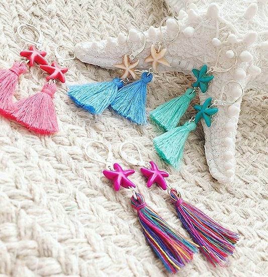 Mini Mermaid Tassel Earrings