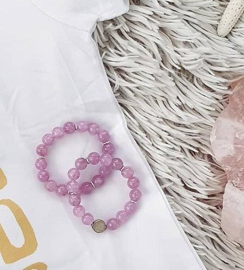 Purple Angelite Bracelet