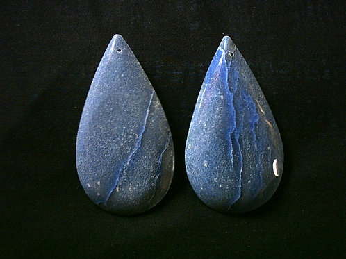 Kit 3 Amêndoas Quartzo Azul 9cm