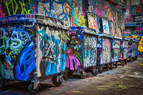 Grafitti Bins