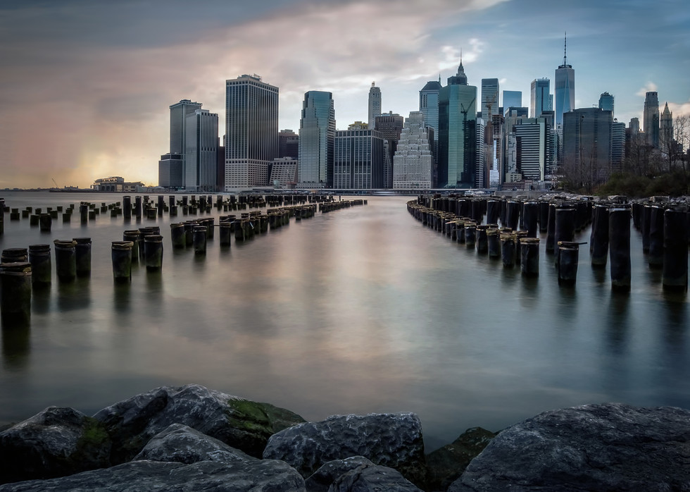 Wood Pilings in the East River
