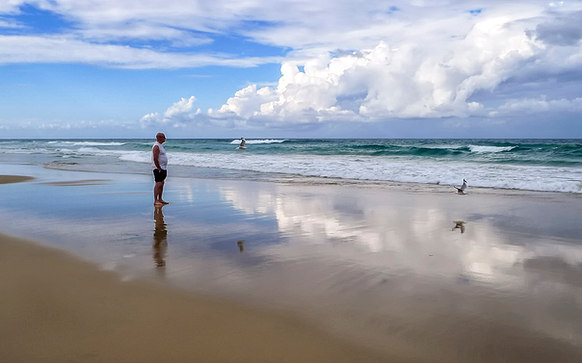 Surfer's Paradise Reflections