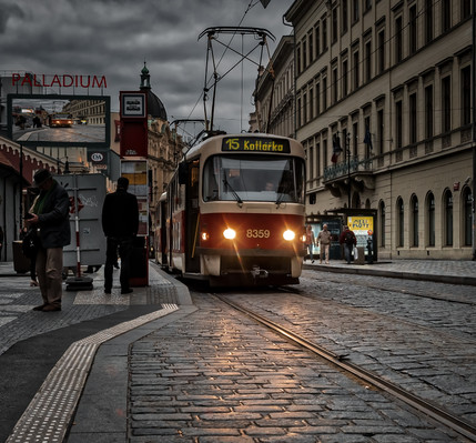 Dusk and the Number 15 Tram