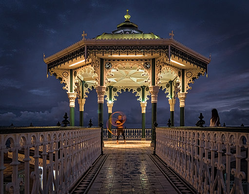 Brighton Bandstand at Night