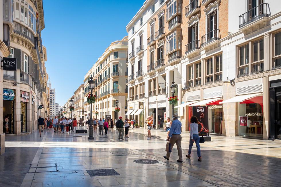 Shoppers in Malaga