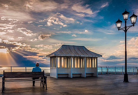 Relaxing in the Sunset on Cromer Pier