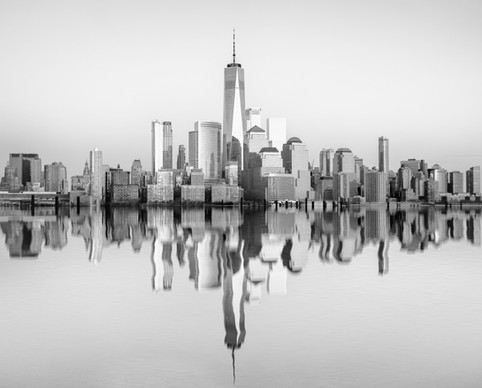 Manhattan Skyline Reflections