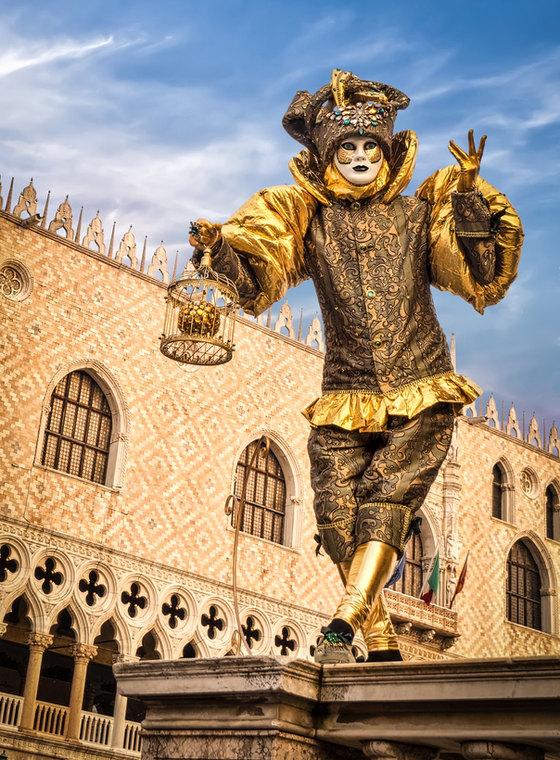 Gold Man at the Carnival