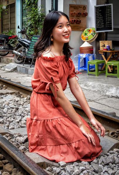 Pretty Girl in Train Street