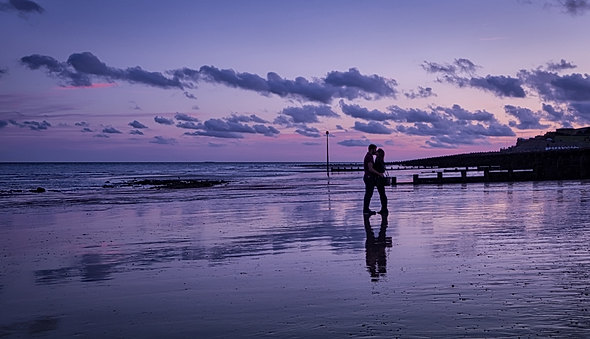 The Lovers on Eastbourne Beach