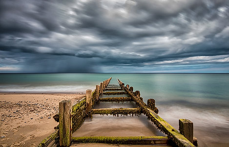 Approaching Storm at Happisburgh