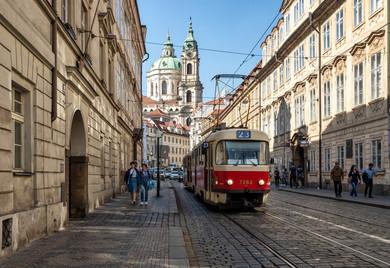 Cobbled Street in Prague