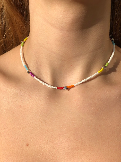 Blocks and Stars Necklace