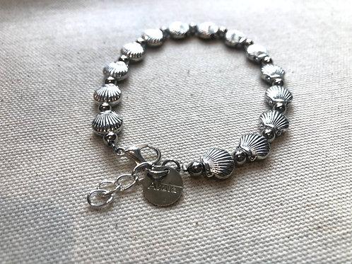 Silver Clam Shell Bracelet