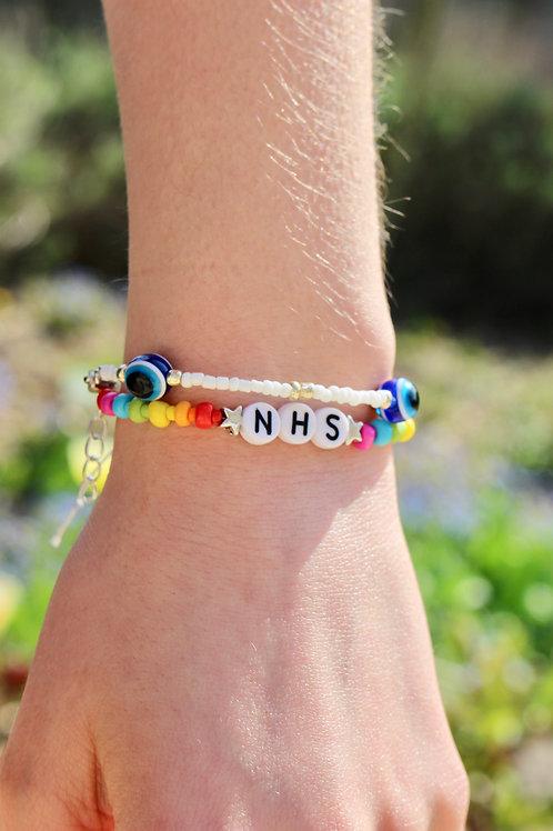 Rainbow NHS Bracelet