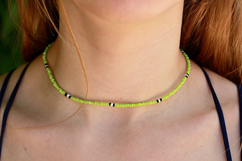 Lime Block Necklace