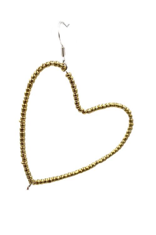 Gold Heart Hoop