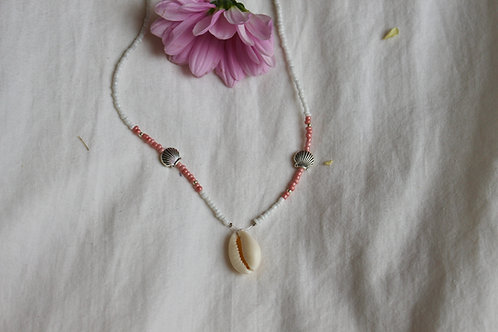 Pink Clam Necklace