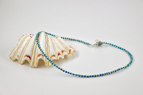 Turquoise Silver Shimmer Necklace