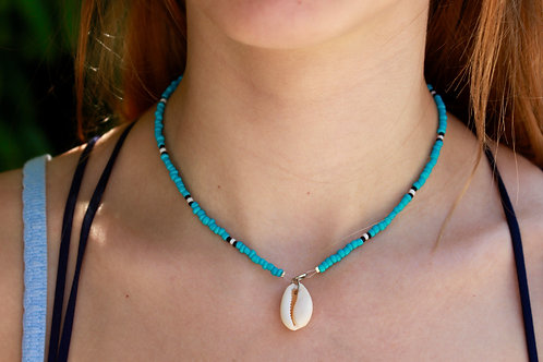 Seaweed Cowrie Shell Necklace