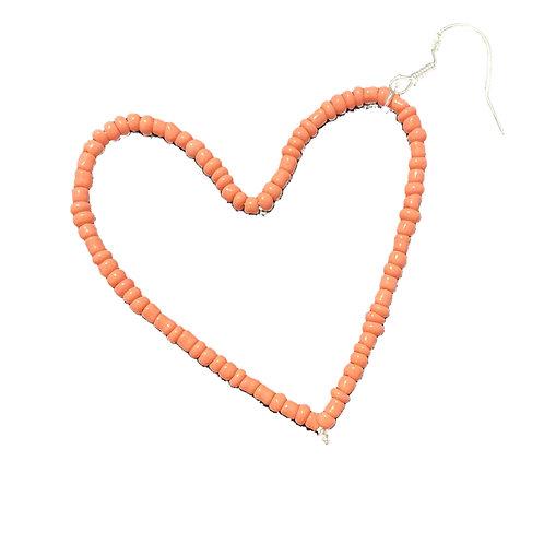 Light Pink Heart Earring