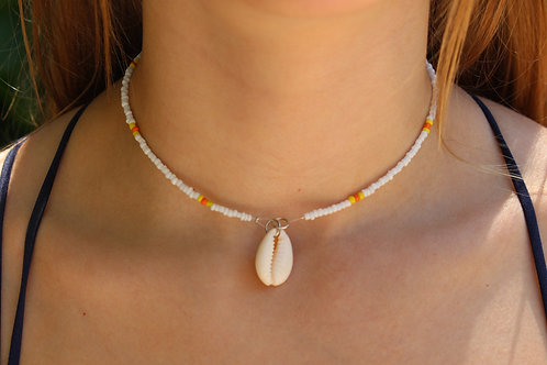 Oranges and Lemons Cowrie Shell Necklace