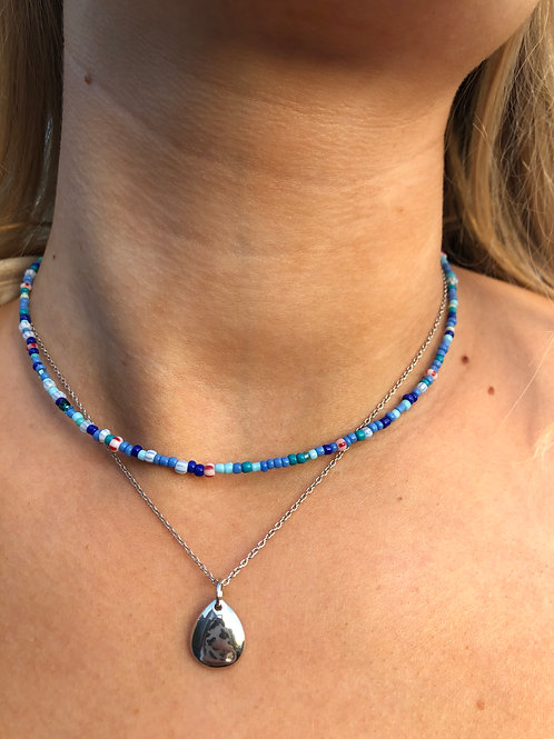Greek days Beaded Necklace