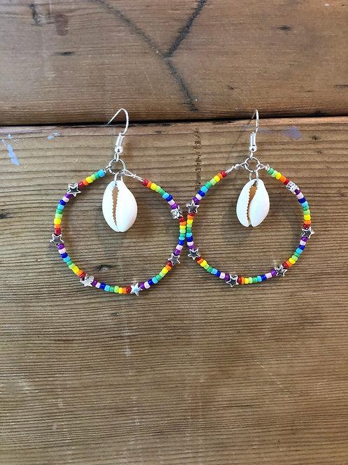 Rainbow Star Burst Earrings