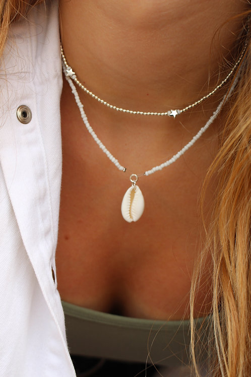 Simply White Cowrie Shell Necklace