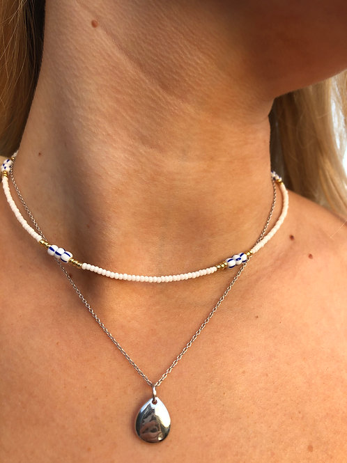 Santorini Beaded Necklace