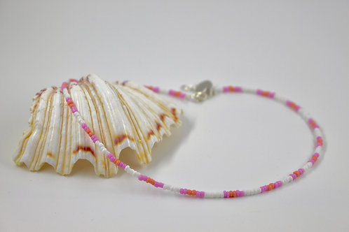 Pink Beach Beaded Necklace