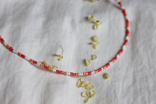 Pinky Days Beaded Necklace