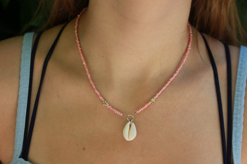 Pink Star Beaded Necklace