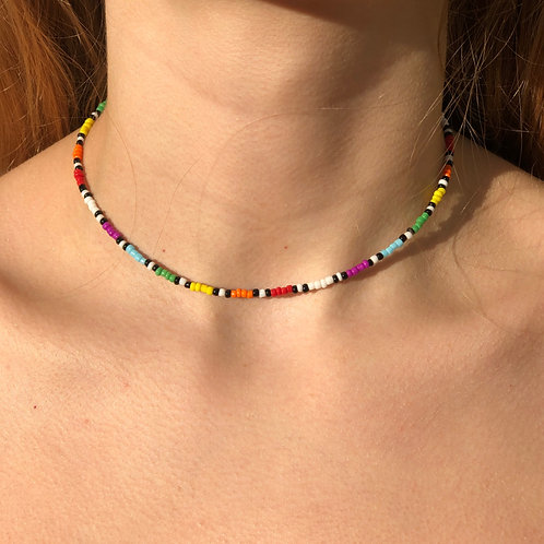 Roll of a Rainbow Necklace