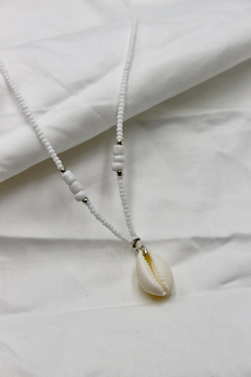 White Blocks Necklace