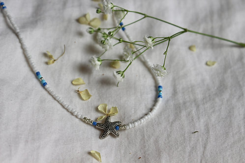 Water Blue Starfish Necklace