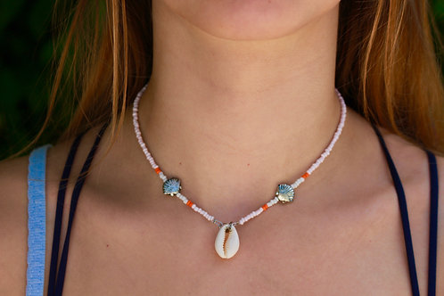 Tango Pink Cowrie Shell Necklace
