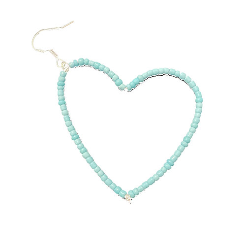 Light Blue Heart Earring