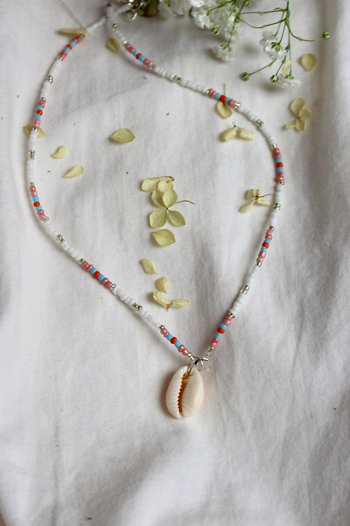 Sunset Sky Cowrie Shell Necklace