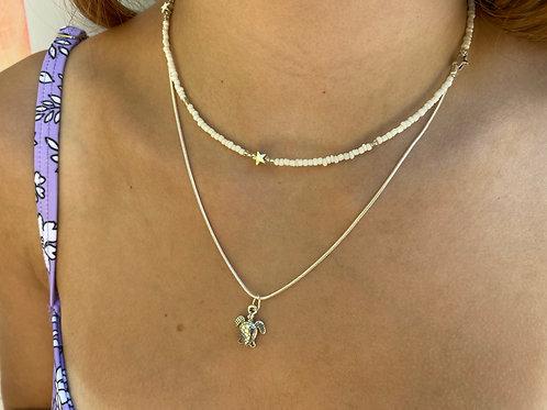 Silver Dreams Beaded Necklace