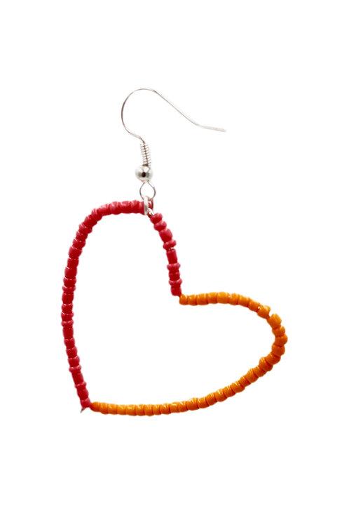 Pink and Orange Heart Hoop