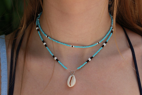 Blue River Cowrie Shell Necklace