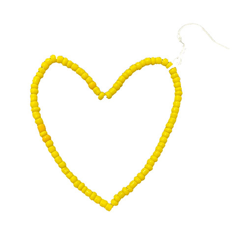 Yellow Heart Earring