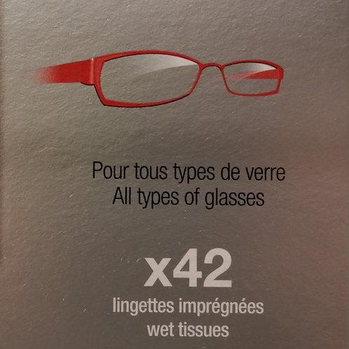 Lingettes nettoyantes lunettes