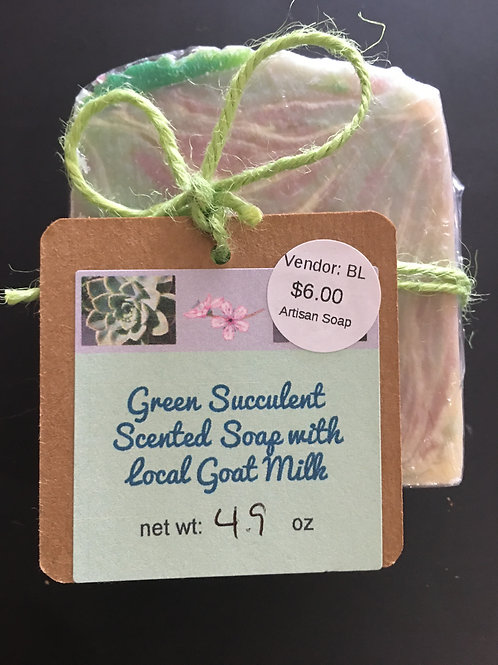 GREEN SUCCULENT SCENTED SOAP