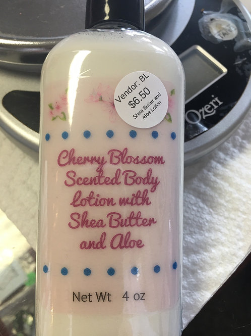 Cherry Blossom scented body lotion