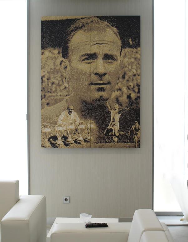 Alfredo Di Stéfano Mosaic Art  Tribute