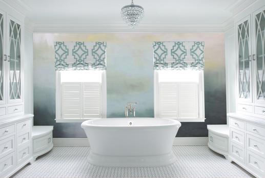 Back Painted Glass Bathroom Wall