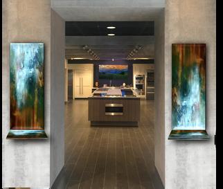 Bent Glass Art with Shelves
